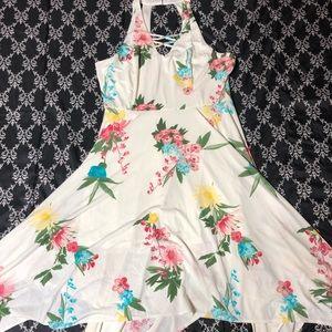 Candies XL floral asymmetrical summer dress